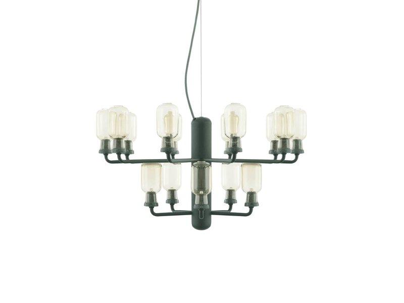 normann copenhagen amp chandelier small lamp green. Black Bedroom Furniture Sets. Home Design Ideas