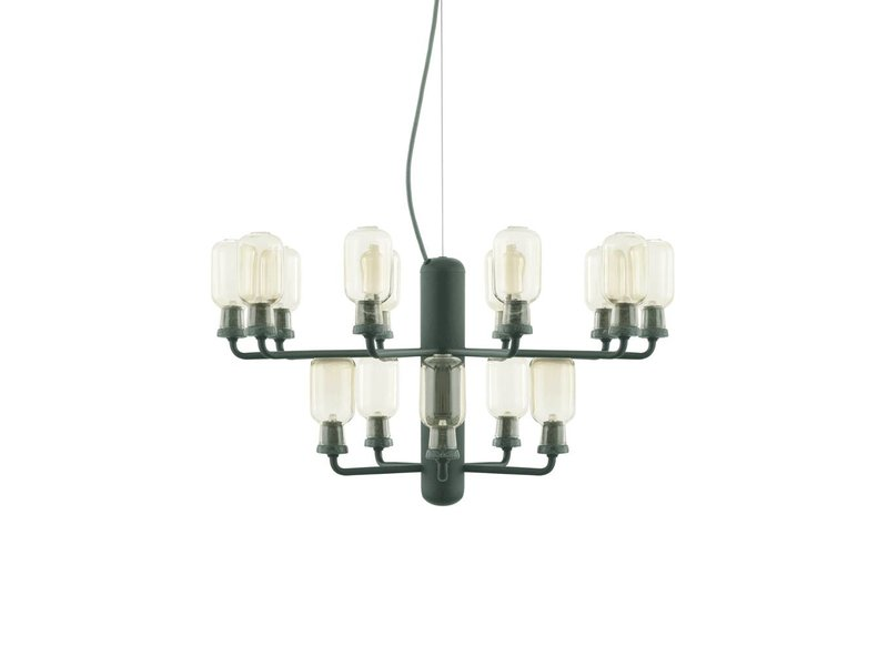normann copenhagen amp chandelier small lamp green living and co. Black Bedroom Furniture Sets. Home Design Ideas