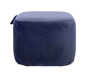 Bloomingville Bella pouf blue polyester