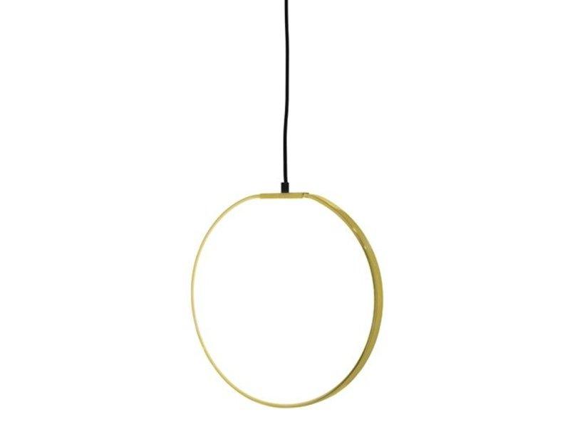 Bloomingville LED vedhæng lys guld overflade