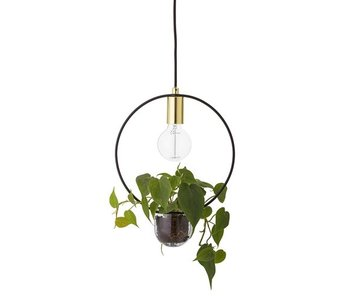 Bloomingville Hanging lamp gold look glass