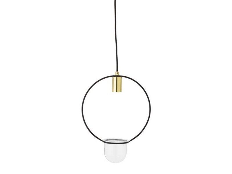 Bloomingville Hängeleuchte Gold-Finish Glas