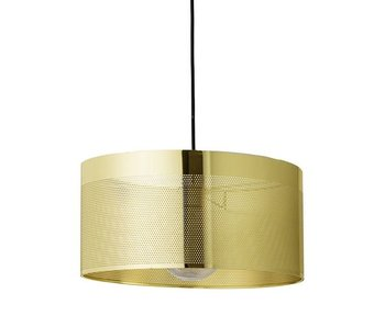 Bloomingville Hanging lamp gold look with decor