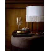 Bloomingville Tafellamp goud metaal met polyester kap