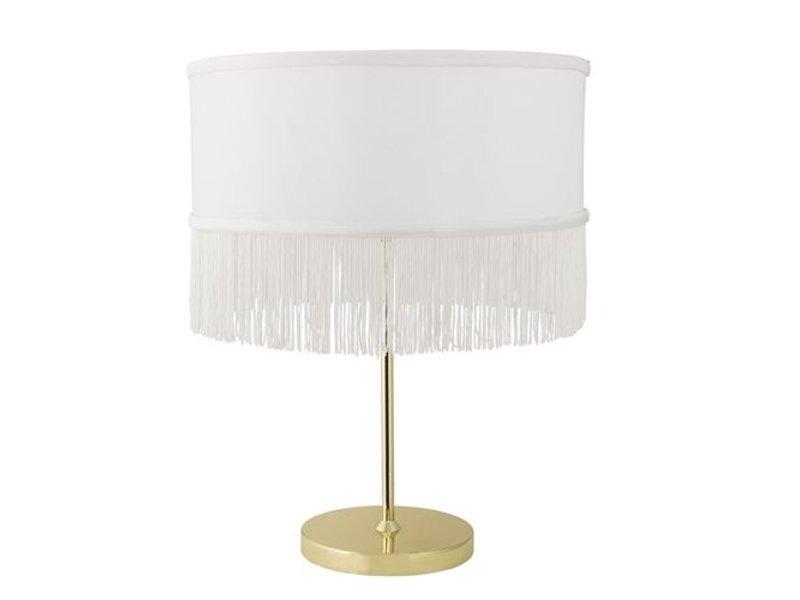 Bloomingville Bordlampe guld metal med polyester cap