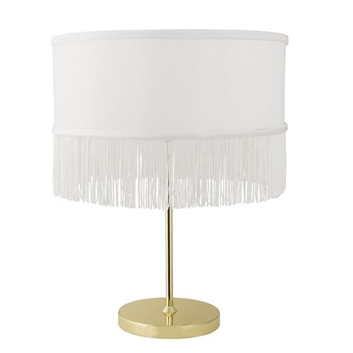 ... Bloomingville Table Lamp Gold Look With Polyester Cap