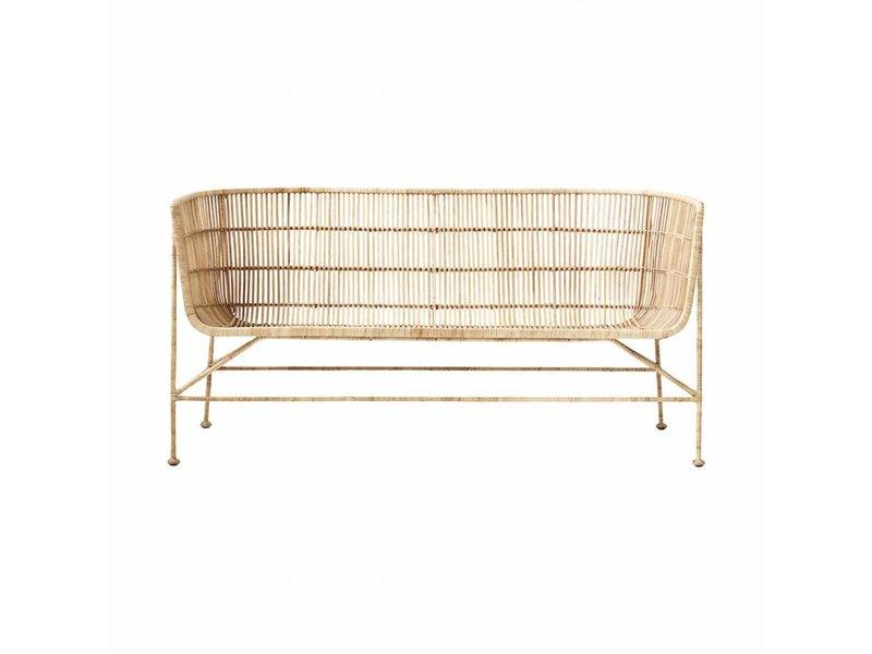 House Doctor Coon sofa natural rotan bank
