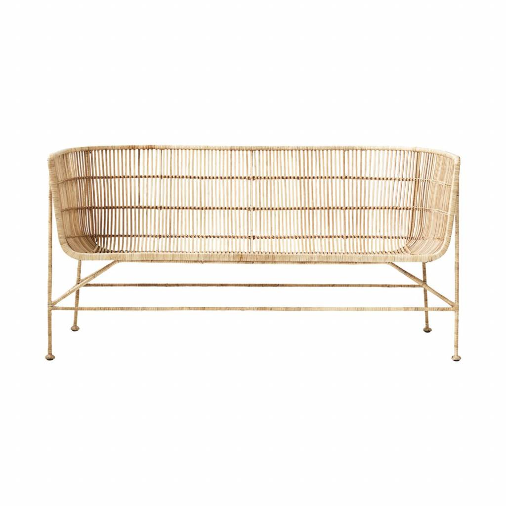 House Doctor Coon Natural Rattan Bench Living And Co