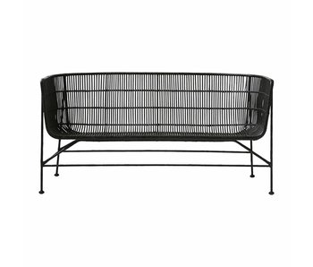 House Doctor Coon rattan sofa black