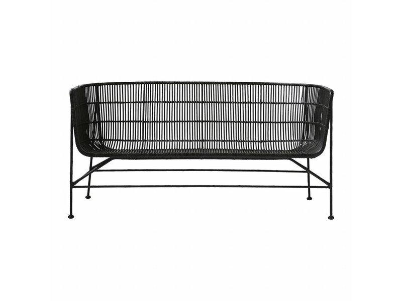 house doctor coon rotan bank zwart living and co. Black Bedroom Furniture Sets. Home Design Ideas