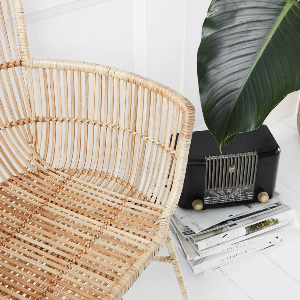 ... House Doctor Coon Natural Rattan Dining Chair ...