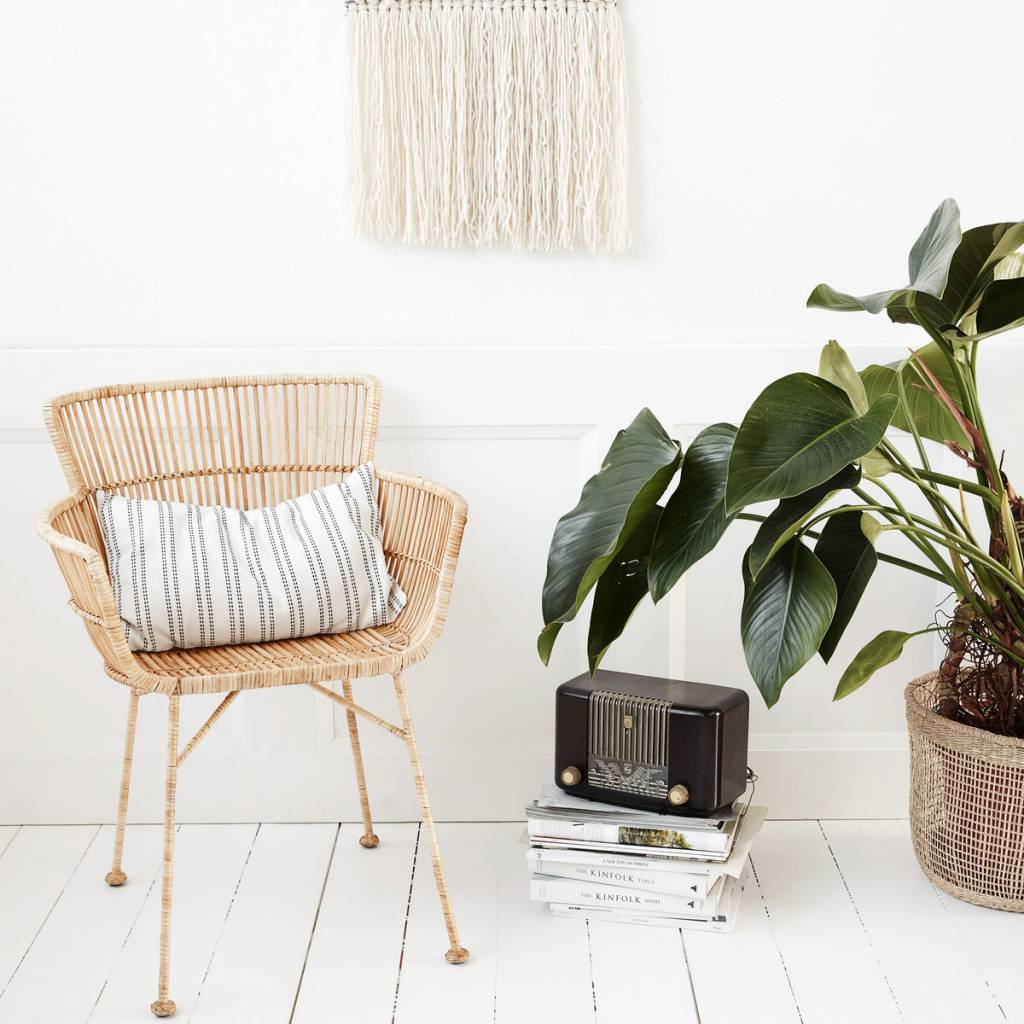 house doctor coon natural rattan dining chair