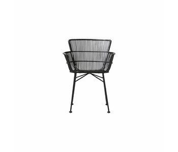 House Doctor Coon rattan dining chair black
