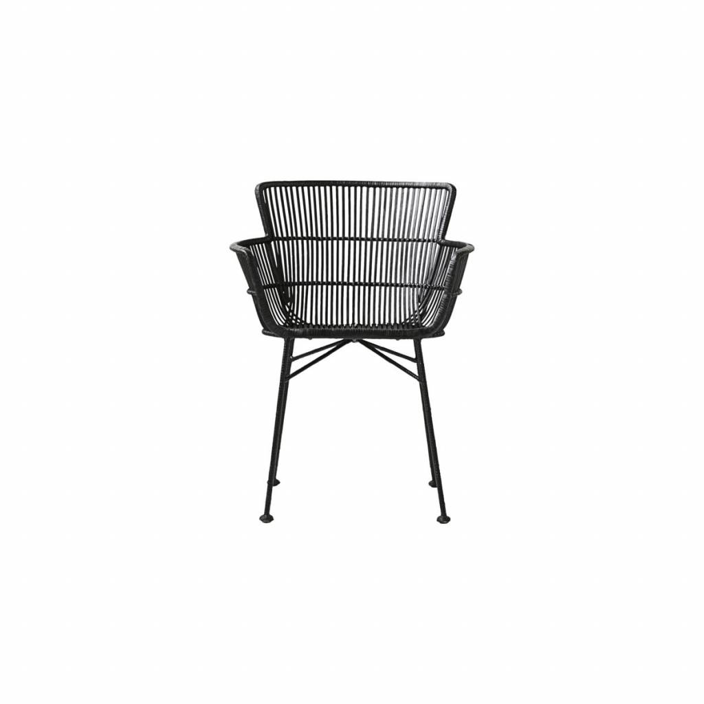 House Doctor Coon Rattan Armchair Black Living And Co
