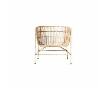 House Doctor Coon rattan lounge stol