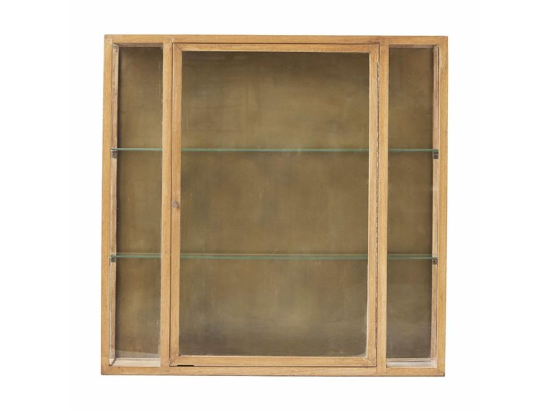 House Doctor cabinet oak wood with two glass shelves - LIVING AND CO.
