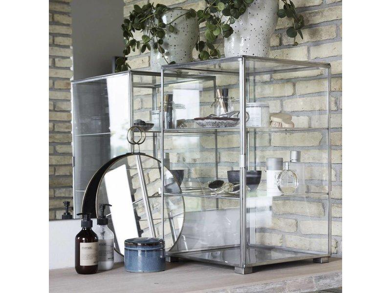 House Doctor Kast zinc met twee glazen planken