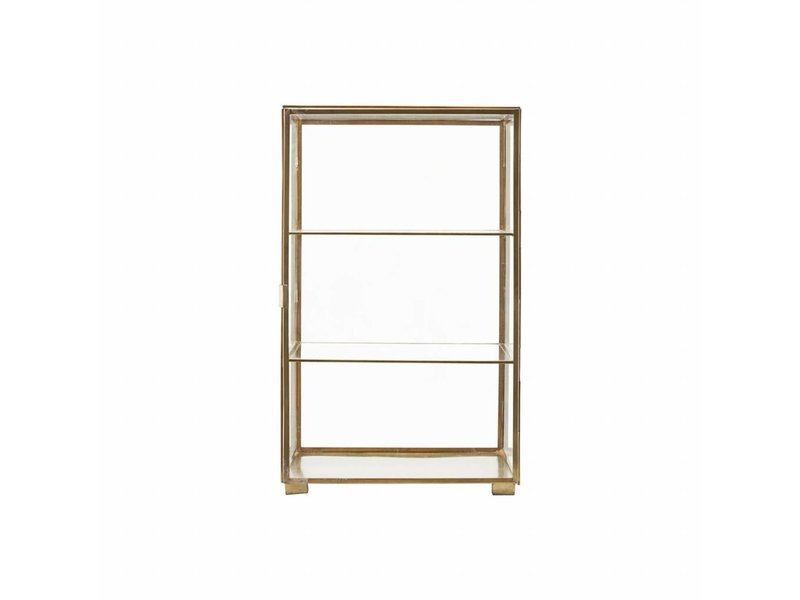 House Doctor Cabinet brass glass - LIVING AND CO.