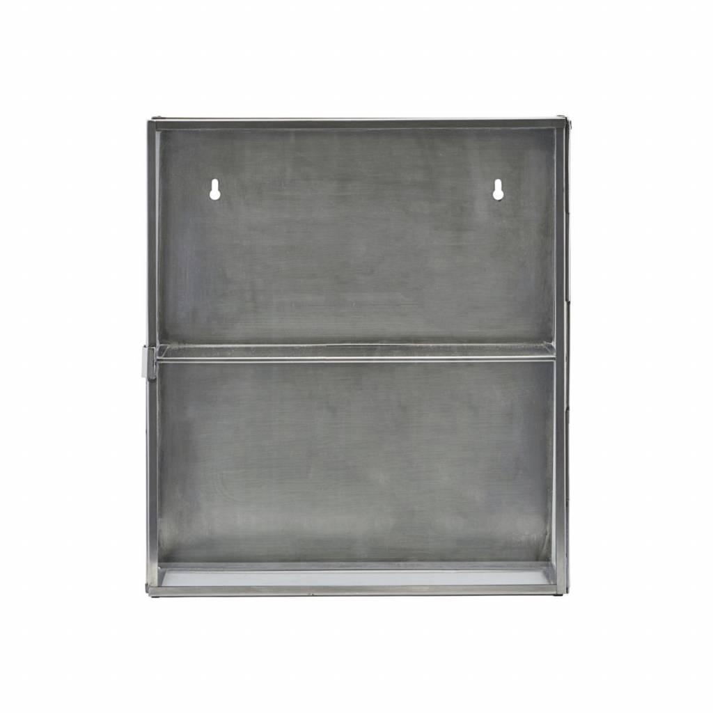 house doctor zinc display cabinet living and co. Black Bedroom Furniture Sets. Home Design Ideas