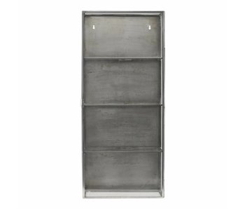 House Doctor Cabinet display zinc with glass