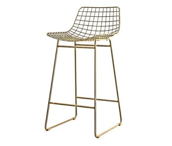 HK-Living Wire barstool brass