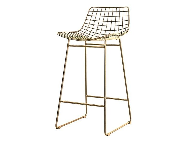 Hk Living Wire Barstool Br Finish