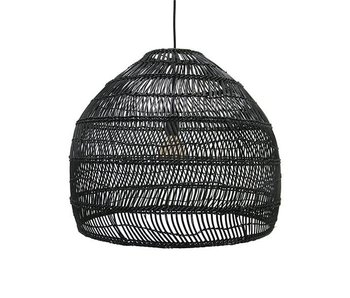 HK-Living Hanglamp riet zwart