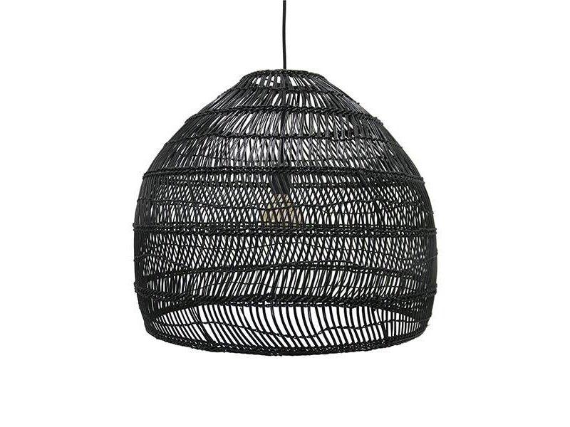 HK-Living Hængende lampe sort sukkerrør 60 cm
