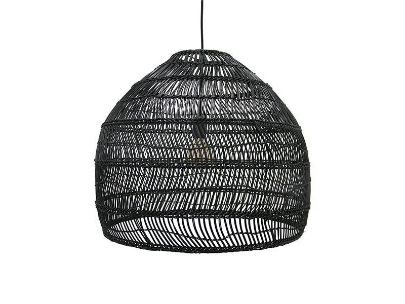 HK-Living Hanglamp riet zwart 60 cm