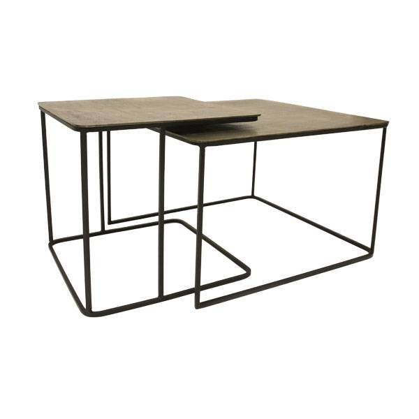 HKliving Coffee Table Set Of 2 Brass