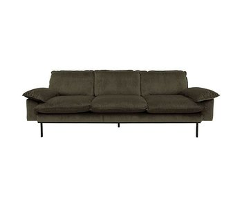 HK-Living Retro sofa 3-seater hunter green