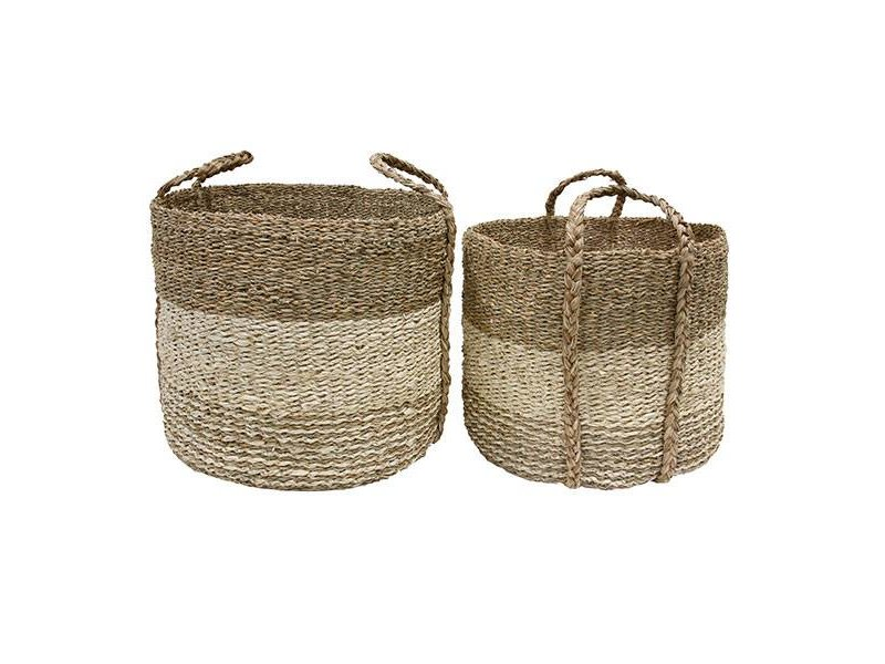 ... HK Living Basket Braided Seagrass Set Of 2 ...