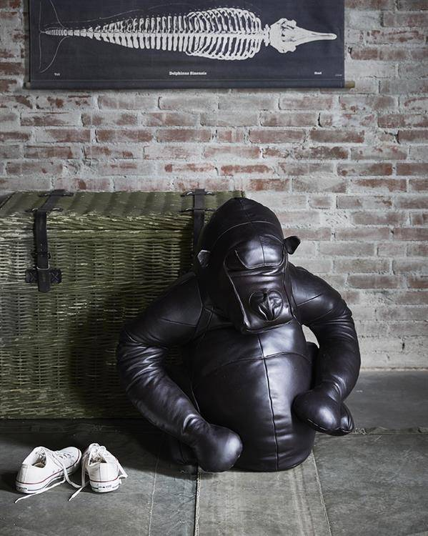 HKliving Gorilla ornament leer