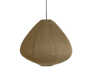 HK-Living Hanging lamp lantern 65 cm khaki brown