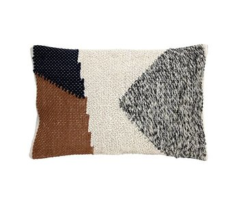 HK-Living Knitted cushion autumn colors