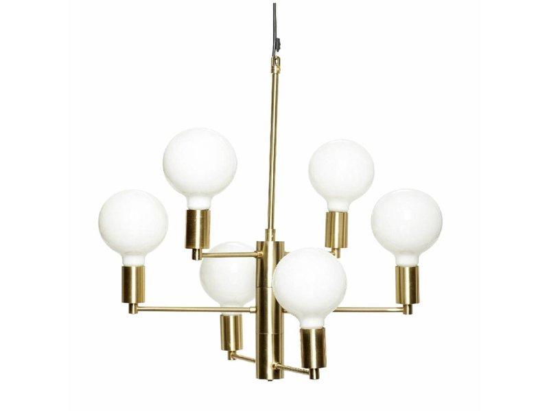 Hubsch Hængende lampe messing 57xh59cm