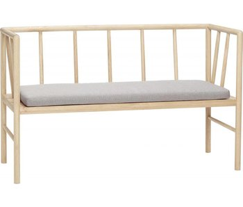Hubsch Bench with cushion oak