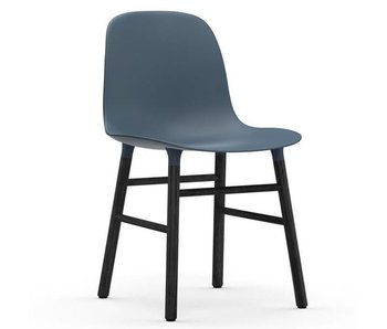 Normann Copenhagen Form Stol sæde sort blå