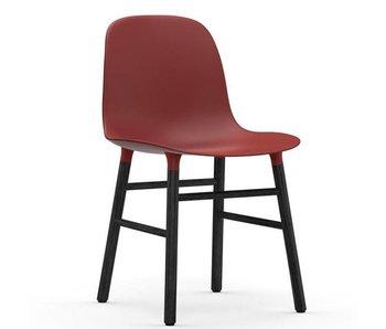 Normann Copenhagen Form Stol sæde sort rød