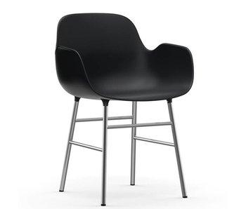 Normann Copenhagen Form Armchair stoel chrome zwart