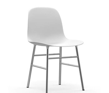 Normann Copenhagen Form Chair chrom Hvid