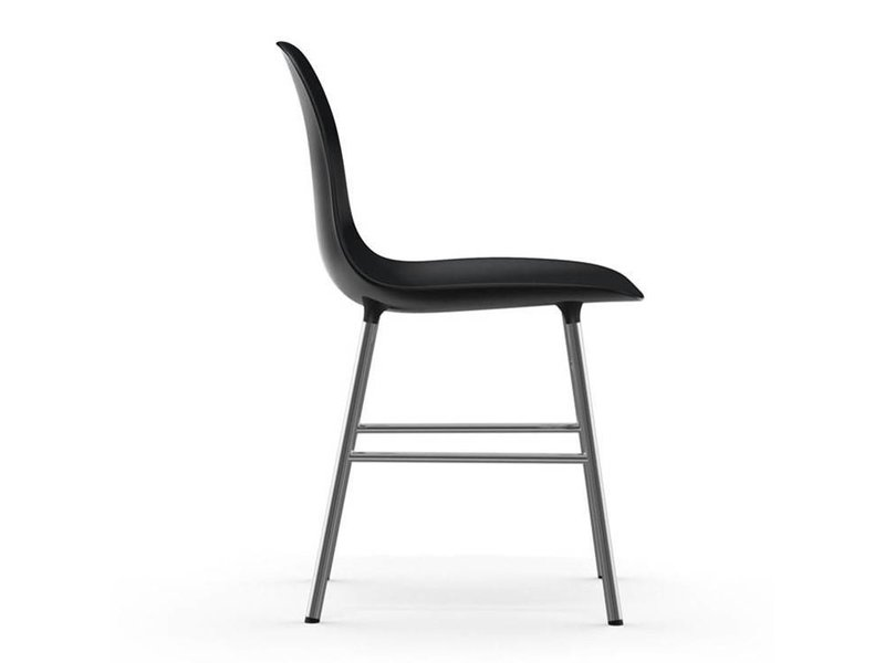 Normann Copenhagen Form Chair stoel chrome zwart