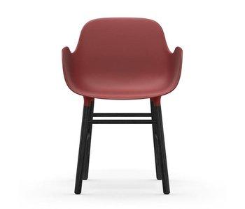 Normann Copenhagen Form Lænestol sæde sort rød