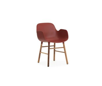 Normann Copenhagen Form Armchair walnut red