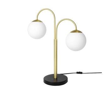 Broste Copenhagen Lámpara de mesa de latón doble caspa