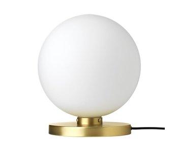 Broste Copenhagen pequeña lámpara de mesa de latón caspa