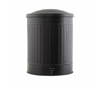 House Doctor Garbage can matt black