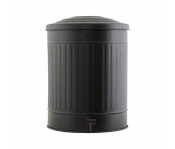 House Doctor Garbage can matt black