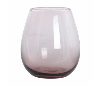 House Doctor Ball water glass purple