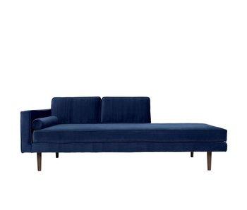 Broste Copenhagen Chaise lounge bænk blå